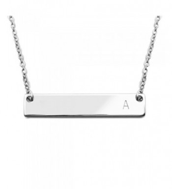 Initial Bar Necklace Graduation Personalized