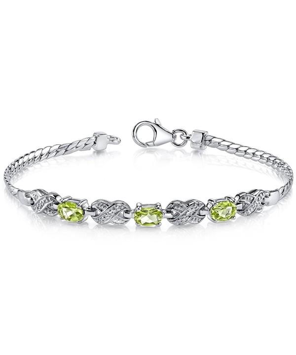 Peridot Bracelet Sterling Silver Carats