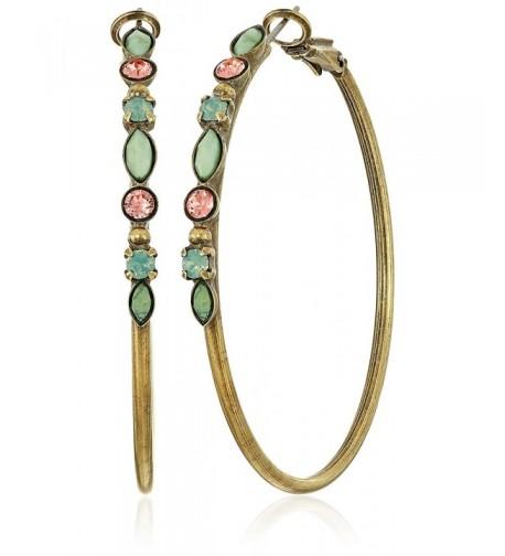 Sorrelli Crystal Semi Precious Encrusted Earrings