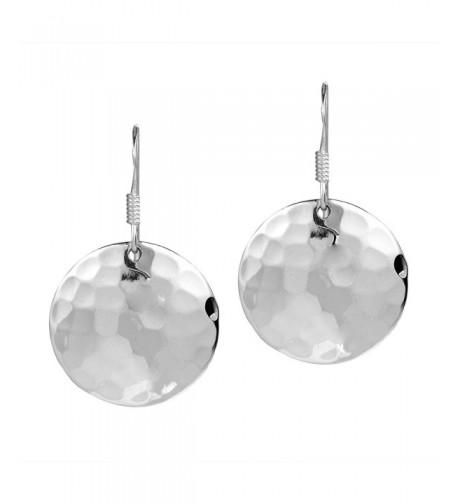 Hammer Texture Sterling Silver Earrings