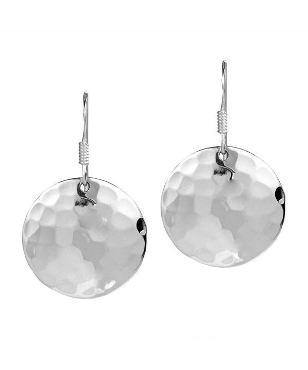 Hammer Texture Sterling Silver Earrings