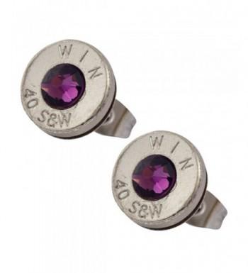 Little Black Gun Crystal Earrings