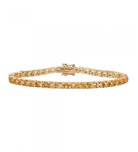 Genuine Yellow Citrine Gold Plated Bracelet