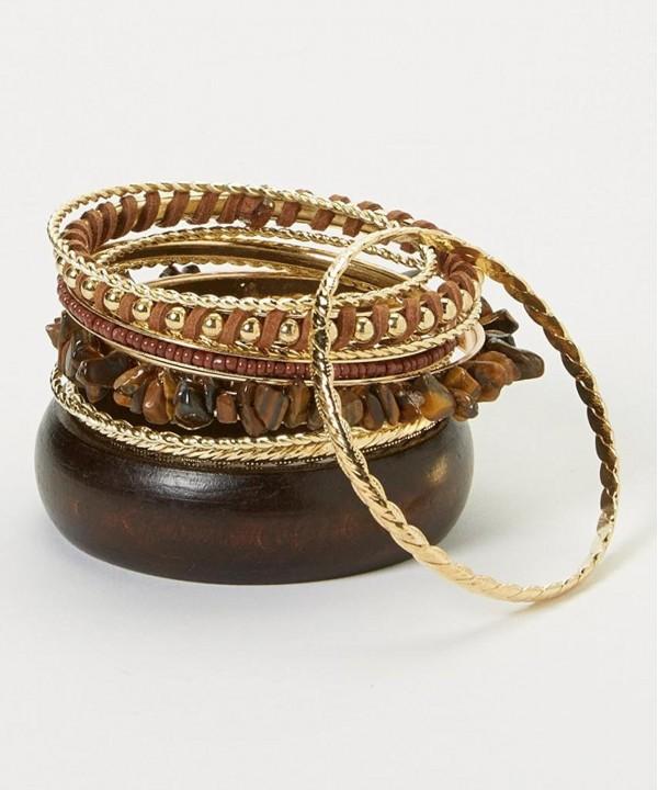 Lux Accessories Brown Bangle Bracelet
