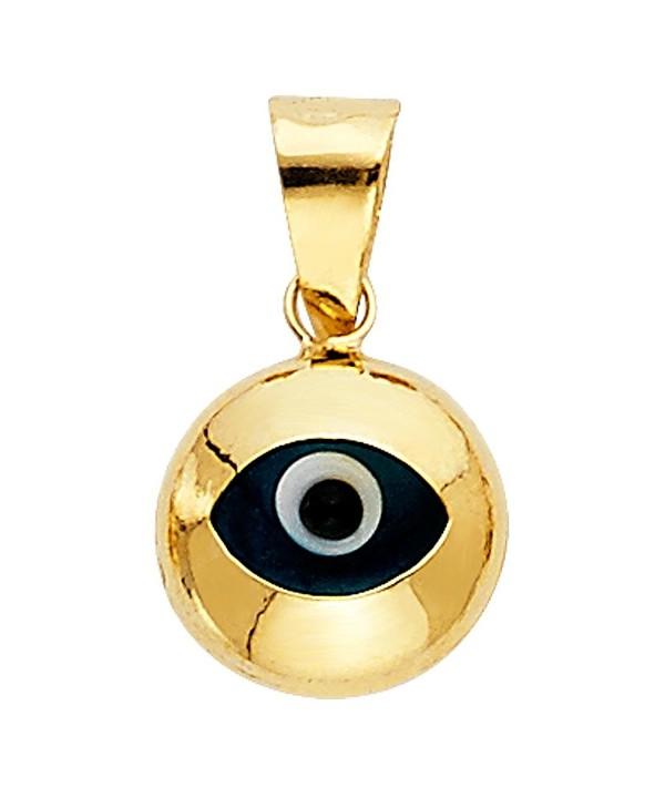 Yellow Gold Evil Charm Pendant