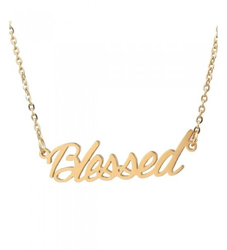 Blessed Personalized Necklace Gold Stainless