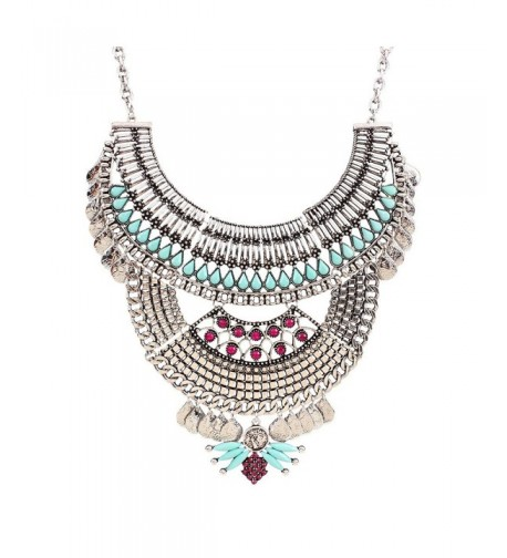 Antique Chunky Statement Crystal Necklace