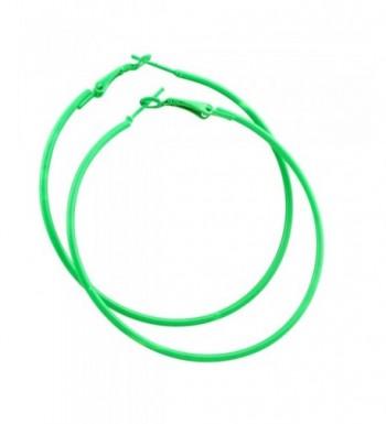 IDB Stainless Steel Hoop Earrings