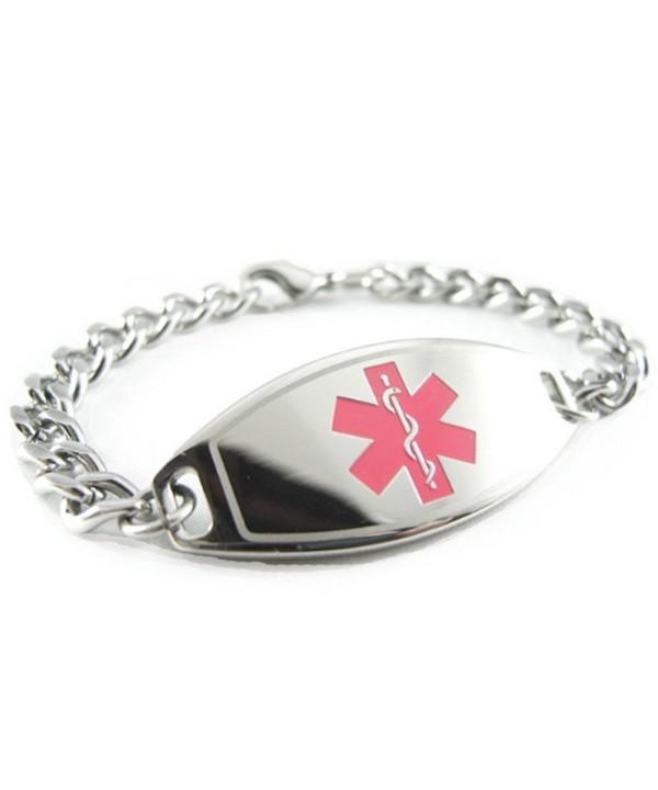MyIDDr Pre Engraved Customized Allergy Bracelet