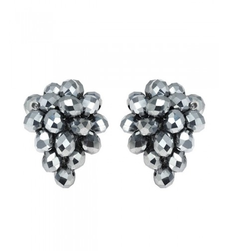 Twilight Silver Tone Fashion Crystal Earrings