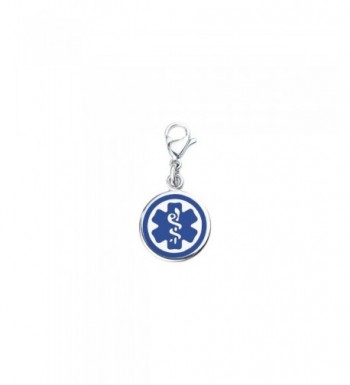 Divoti Custom Engraved Medical Charm Blue