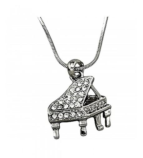DianaL Boutique Silvertone Instrument Necklace