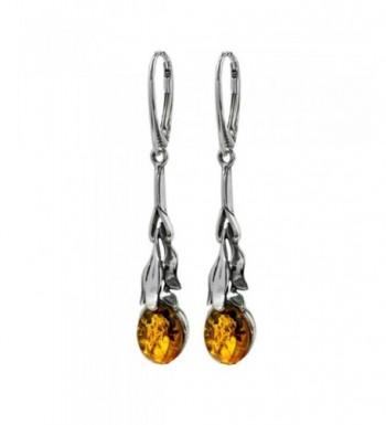 Sterling Silver Floral Leverback Earrings
