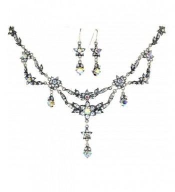 Exquisite Simulated Rhinestone Necklace Earring