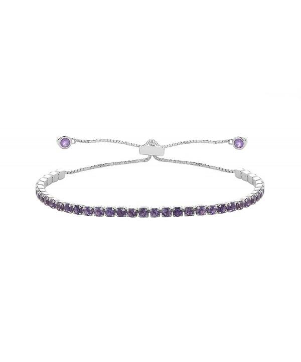 NYC Sterling Gemstone Adjustable Bracelet