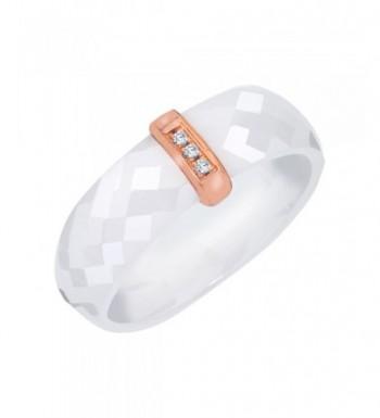 Diamond Accent Promise Ceramic Sterling