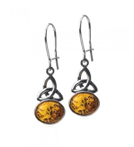 Honey Sterling Silver Celtic Earrings