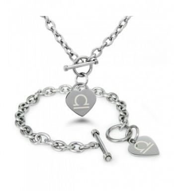 Stainless Astrology Symbol Bracelet Necklace