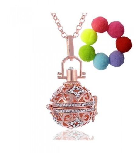Sharefashion Rhinestone Necklace Aromatherapy Essential