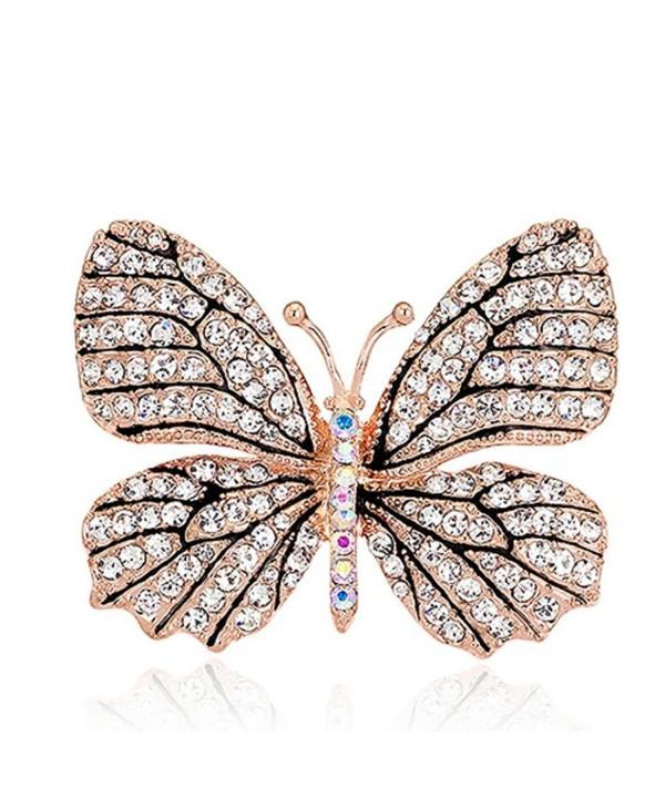 Fashion Multicolor Rhinestone Butterfly Wedding