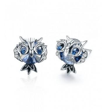 SBLING Blue Earrings Swarovski Crystals