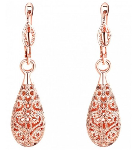 Teardrop Earrings Plated Hollow Dangles