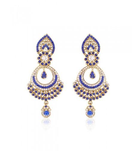 Jewels Plated Stone Earrings E2311Bl