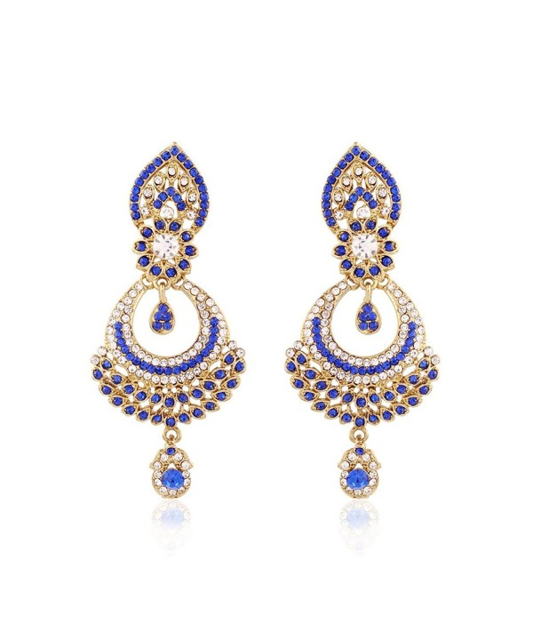 Jewels Plated Stone Earrings E2311Bl