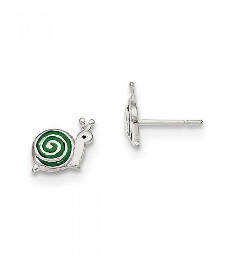 Sterling Silver Enameled Earrings 8 78MM