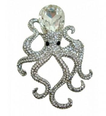 TTjewelry Octopus Pendant Austria Silver tone
