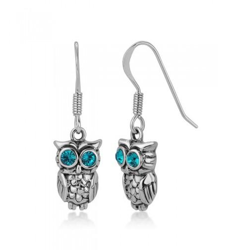 Oxidized Sterling Silver Greenish Earrings