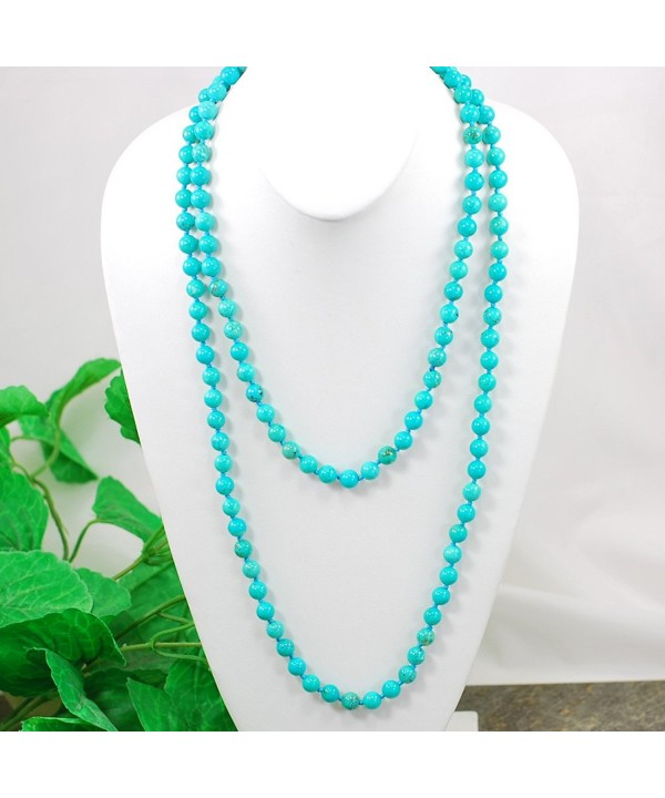 Stunning Blue Turquoise Necklace N16121411d