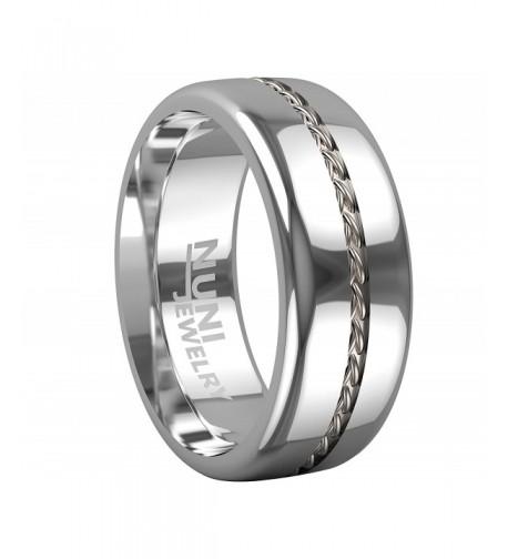 Nuni Jewelry Tungsten Silver Wedding