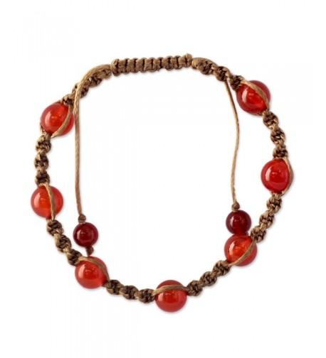 NOVICA Adjustable Shamballa Bracelet Chalcedony