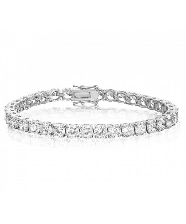 Realistic Simulated Bracelet Platinum zirconia