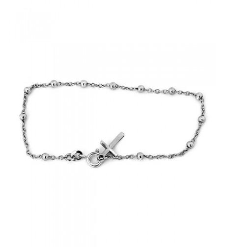 Sterling Silver Rhodium Plated Bracelet