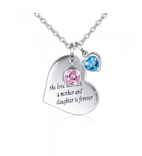 Sterling Message Engraved Daughter Necklace