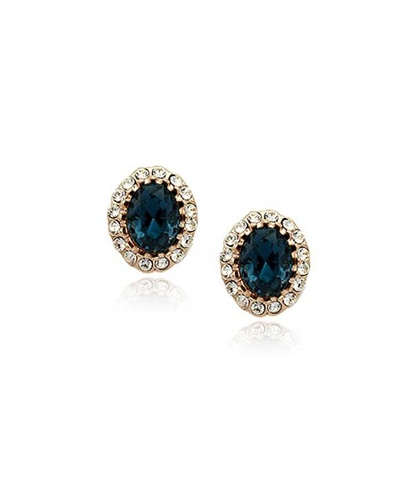 Sapphire Swarovski Elements Zirconia Earrings