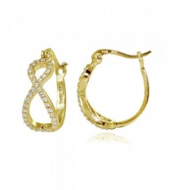 Flashed Sterling Zirconia Infinity Earrings