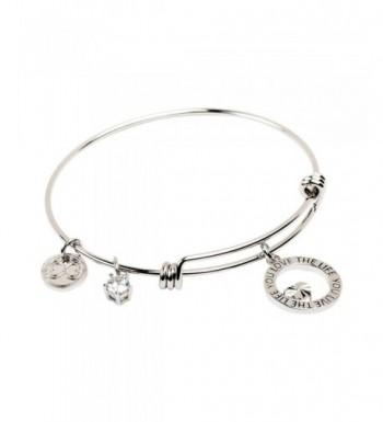 Expandable Bracelet Inspirational Stackable Bangle