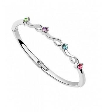 Crystals Swarovski Colorful Bangle Bracelet