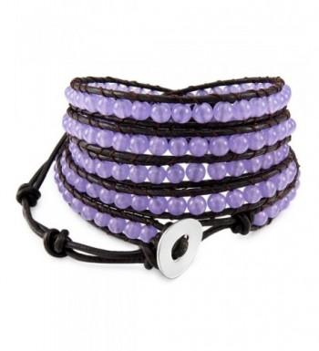 INBLUE Genuine Bracelet Simulated Adjustable