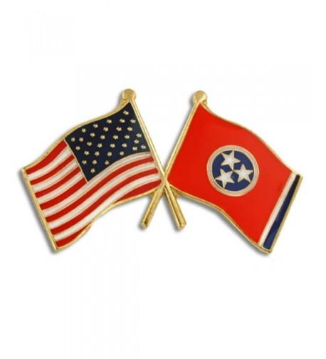 PinMarts Tennessee Crossed Friendship Enamel