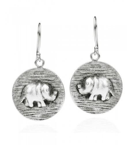 Mountain Elephant Handmade Sterling Earrings