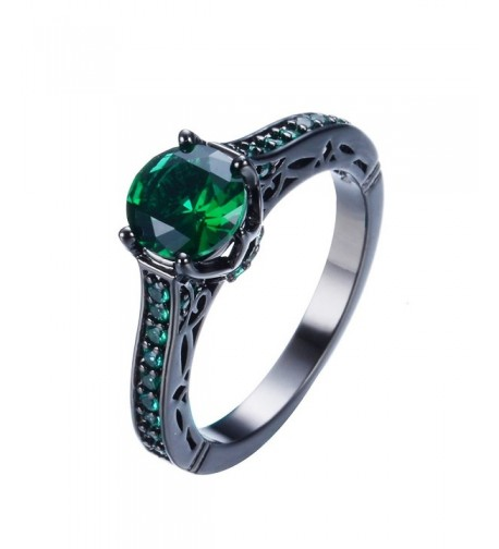Junxin Jewelry Single Engagement Emerald