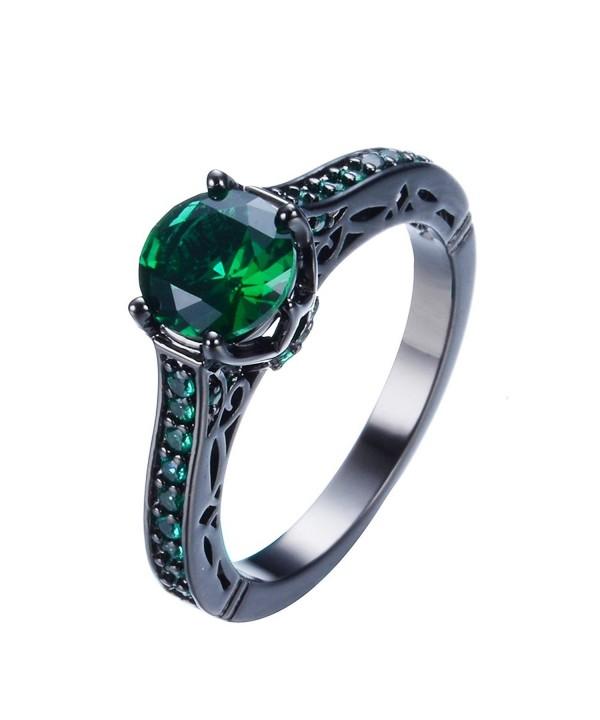 Junxin Jewelry Single Engagement Emerald