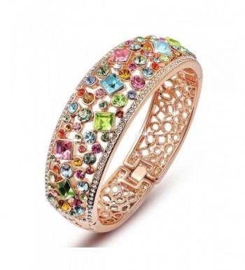 QIANSE Bracelets Multicolor Austrian Crystals
