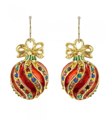 Bejeweled Christmas Ornament Earrings 90