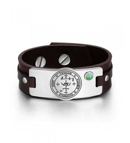Archangel Michael Gemstone Adjustable Bracelet