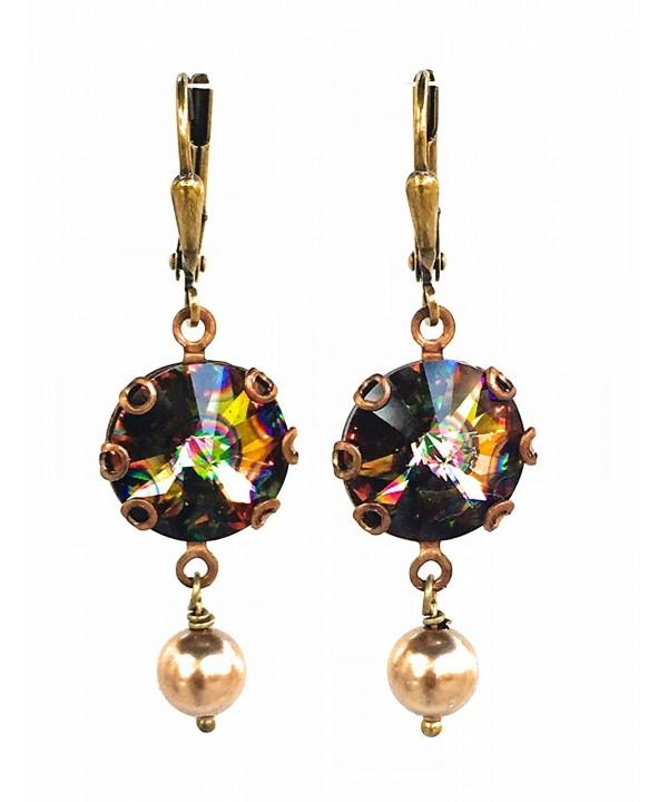 HisJewelsCreations Crystal Simulated Earrings Peacock